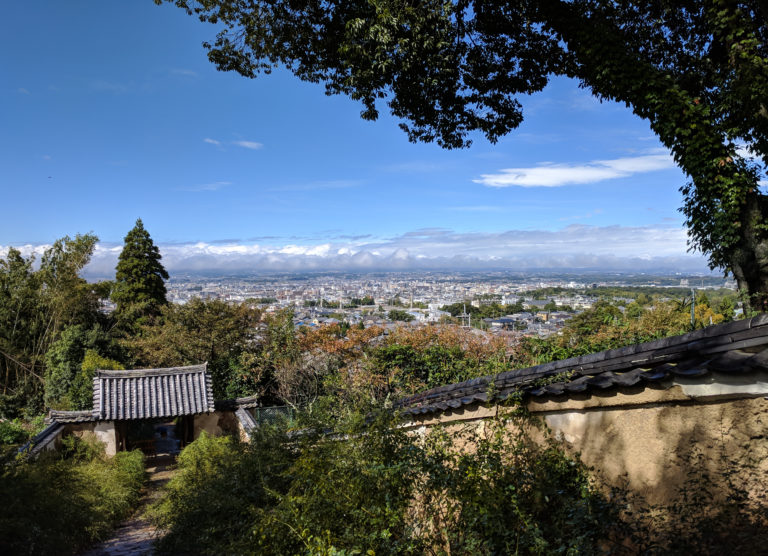 Overlooking Nara from Byakugoji Temple